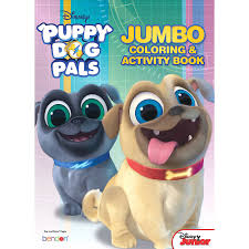 Puppy Dog Pals Coloring Activity Book 7 34in X 10 34in Party City
