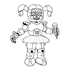 Fnaf Coloring Sheets Mangle And Foxy Coloring Pages Withered Page On