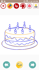How To Draw Cake With Icing On Chart Paper Candles Slice