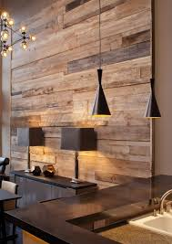 wood feature wall reclaimed wood