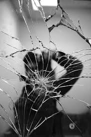 broken mirror reflection mirror