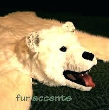 white bear skin rug with head bear fur rug faux polar bear rug small size of white bear skin rug with head