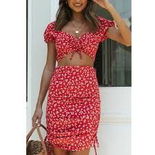 <b>hirigin</b> Boho Beach Shirt Skirt Clothes Set <b>Summer</b> Women Flower ...