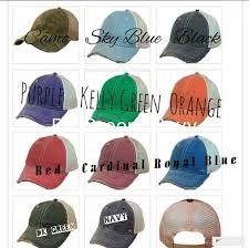 Trucker Hats Color Selection Chart