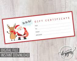 Christmas Gift Coupon Christmas Gift Certificate Santa Claus Gift Certificate Printable Gift Coupon Gift Instant Download Kids Gift Idea Holiday Gift Idea