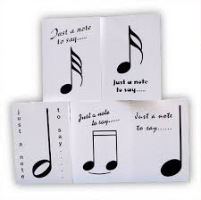 Just A Note Cards Pack Of 5 By Music Notables