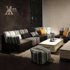 modern fabric sofa set. Modern Fabric Sofa Set With Stripe Pattern (803#) B