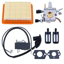 Haishine <b>Carburetor Ignition Coil</b> Air <b>Fuel</b> Filter Kit for STIHL FS200 ...