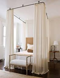 Diy Canopy Bed with Curtain Rods Lovely Makeshift Canopy Homemade ...