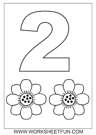 Preschool Number Coloring Pages Download Coloring Page Number