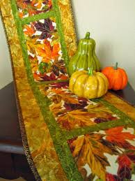 Patchwork Mountain - Handmade Quilts, Table Runners, Table Toppers ... & Table Runner Autumn Leaves Handmade Fall Quilted Table Decor Adamdwight.com