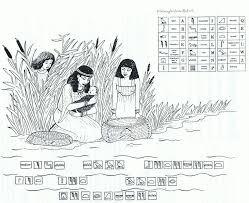 25 Printen Mozes In Het Biezen Mandje Kleurplaat Mandala