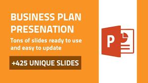 Business Plan Modern Powerpoint Design Deck Data Visualization