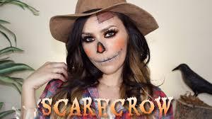 easy scarecrow halloween makeup tutorial l cflowermakeup