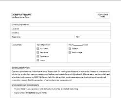 Job Description Template Microsoft Word Templates Enchanting Job Description Template Word