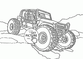 Small Picture Mini Monster Truck coloring page for kids transportation coloring