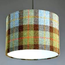 staggering plaid lamp shades