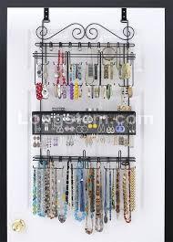 hanging necklace organizer black over the door jewelry organizer necklace wall organizer ideas