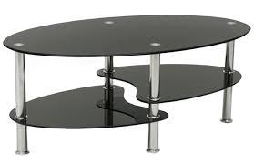 cara black glass coffee table with chrome legs main image