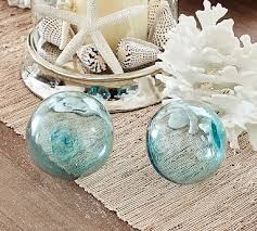 Glass Balls For Decoration Recycled Glass Balls Set of 100 BlueGreenClear Decor 24