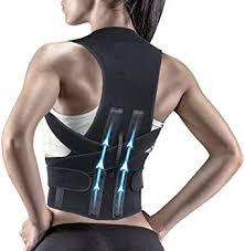 Krim <b>Back Brace Posture</b> Corrector Double Metallic Plate Back ...