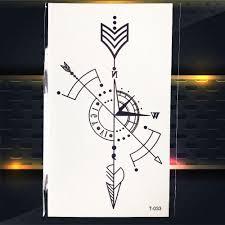 геометрия временные татуировки руководство черная стрелка графика для мальчиков