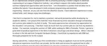 Electrical Engineering Cover Letter Sample Resume Examples