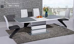 white high gloss extending dining table inspirational high gloss dining table home decor color also trendy