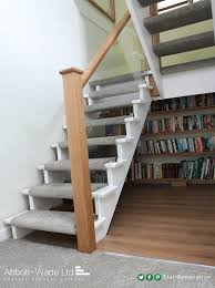 open tread stairs.  Stairs Open Tread Cutstring Staircase Renovation With Tread Stairs P