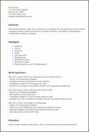 Mortgage Underwriter Resume Perfect Insurance Underwriter