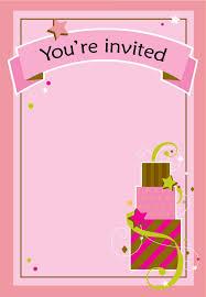 Girl Birthday Invitation Template Girl Fun Birthday Birthday Invitation Template Free
