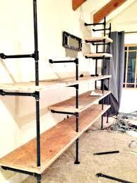 industrial pipe shelves do it yourself iron bookshelf black 2 diy bookcase