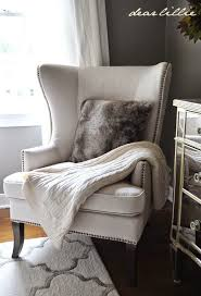 fall home tour via dear lillie featuring cost plus world market s gray faux fur throw pillow