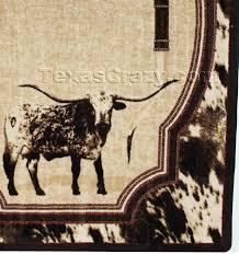 texas area rug 5 x 8 longhorn area rug texas star area rugs rustic texas star