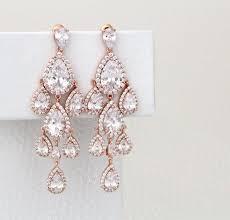 rose gold chandelier earrings rose gold bridal earrings in rose gold chandelier earrings 10546