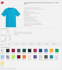 Hanes Sweater Size Chart Hanes Tagless T Shirt Color Chart Coolmine Community School