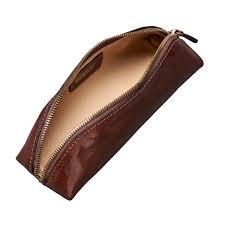 tan travel makeup bag
