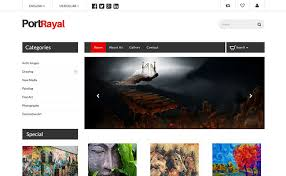 Free Online Template Portrayal Html5 Online Art Gallery Website Template Themevault