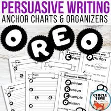 Oreo Opinion Writing Anchor Charts Persuasive Essay