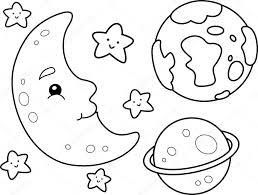 Small Picture Outer Space Coloring Page Stock Photo lenmdp 48930131