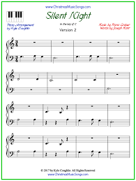 The easy version of silent night for piano splits the melody between the right and left hands. Silent Night Piano Sheet Music Free Printable Pdf
