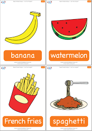 Food Flash Cards Are You Hungry Flashcards Super Simple