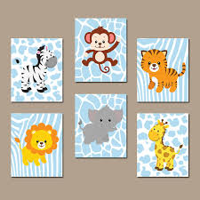 on baby safari nursery wall art with baby boy safari nursery wall art jungle animals decor canvas