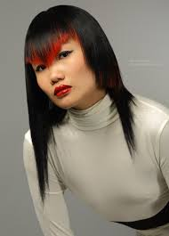 Hair Style For Asians long straight asian hair in an asymmetrical haircut with varying 7301 by stevesalt.us