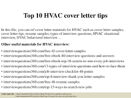 top 10 hvac cover letter tips in this file you can ref cover letter materials sample hvac cover letter