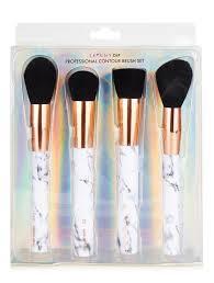 marble makeup brushes. skinnydip marble shut the contour make up brush kit makeup brushes a