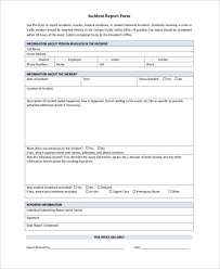 Incident Report Sample 9 Free Documents In Word Pdf