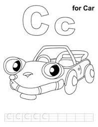 car coloring pages alphabet c