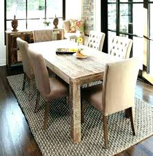 common dining room rug size under table right of dinning round rugs