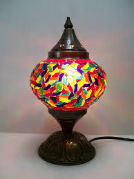 Furniture Luxury Decorative Night Lamps With Mosaic Lamp Cracker
